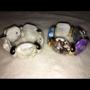 Jewelry - Bold Stretch Bracelet Duo